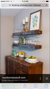Lacking storage space in your kitchen or dining room? Build some chunky floating  shelves -- both beautiful and practical!