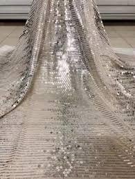 BTY Matte Beige Matte <b>Silver</b> Elegant Daisy <b>Floral</b> Sequin Wedding ...