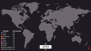 世界の戦争4500年の歴史を視覚化したタイムラプス映像