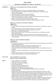 Principal Support Engineer Resume Samples Velvet Jobs