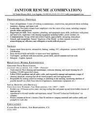 Small Engine Mechanic Sample Resume Best Janitor Resume Sample Resume Companion