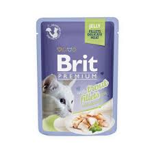 <b>BRIT PREMIUM CAT</b> POUCH WITH TROUT FILLETS IN JELLY FOR ...