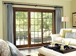 curtain for sliding door kitchen glass curtains panel set awesome window treatments doors