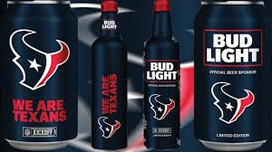 Bud Light Nfl 36 Pack 2017 Limited Edition Houston Texans Bud Light Cans Aluminum