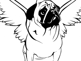 pug puppy coloring dog pictures to color free printable for kids and pages