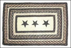 primitive braided rugs marvelous rug black star rustic country and white oval ru