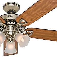 hunter brass ceiling fans. Plain Fans Image Is Loading Hunter52034BrightBrassCeilingFanReversible Intended Hunter Brass Ceiling Fans A