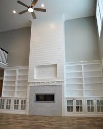 Fireplace Built Ins Dining Room Fireplace Stone And Shiplap With Built Ins Dining