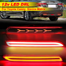 <b>2Pcs</b> 12V Flow Led Car Rear <b>Bumper</b> Reflector Tail <b>Brake Light</b> Bar ...