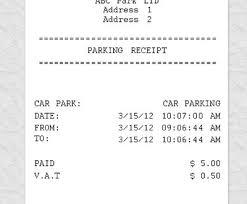 Parking Receipt