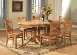 kitchen pedestal dining table set: east west furniture vancouver  piece oval dining table set  wood chairs in oak kitchen