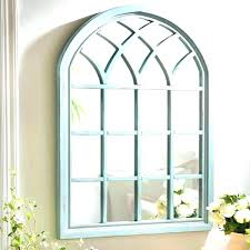 arch wall decoration rustic decor window planter frame on image of decorative metal mirror awesom