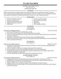 Resume Template For Hospitality