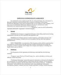 11 employee confidentiality agreement