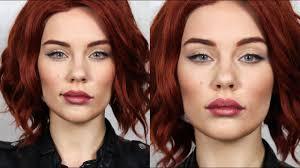 black widow natasha romanoff makeup transformation