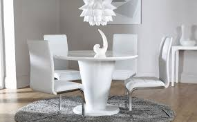 black high gloss dining table and chairs luxury dining room furniture white round dining