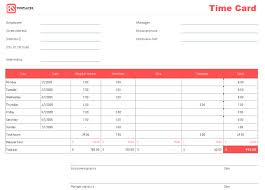 Timecard Template Word Time Card Template Free Time Sheet Template In Excel