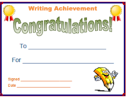 certificates of completion for kids sample congratulations certificates writing competition award