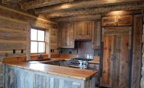 wood kitchen furniture. rustic kitchen interior from reclaimed wood cabinets furniture o