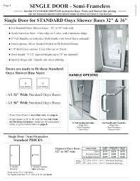 shower door measurements shower door height glass