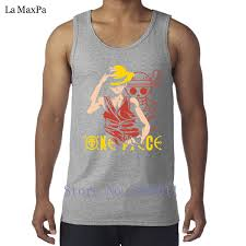 One Piece Anime Size Chart Custom Formal Luffy Angry One Piece Anime Tank Tops Men