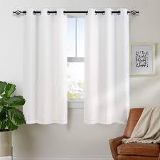 Amazon.com: White Curtains for Bedroom Living Room Grommet Window ...