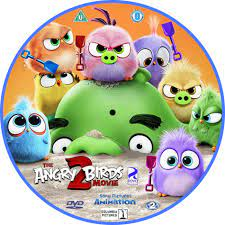 The Angry Birds Movie 2 (2019) R2 Custom DVD Label - DVDcover.Com