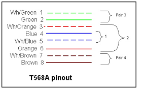 the compass derose guide to ethernet computer network wiring color coding for pins in cat5 connector also explained in text following