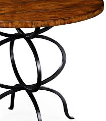 walnut bistro style panelled round centre table p jpg