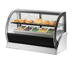 vollrath 40852 curved glass countertop refrigerated display cabinet
