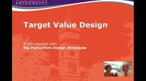 Target Value Design Target Value Design Youtube