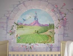nursery wall art fl castle mural sticker nurseries portfolio  on castle wall art mural with princess castle wall stickers mural disney uk murals testyd