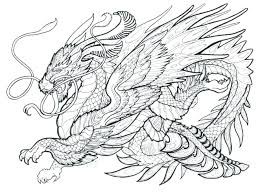 Printable Scary Dragon Coloring Pages Hard For Adults Chinese Faces