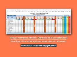 Kekurangan lain absensi manual adalah saat diakhir bulan tugas hrd akan lebih banyak untuk cek absensi dari lembar absensi karyawan secara manual juga. Cara Praktis Membuat Absensi Otomatis Di Microsoft Excel