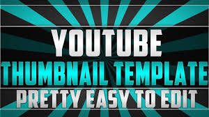 photoshop thumbnail youtube thumbnail template free to use easy to edit