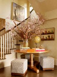 contemporary entry table. Interesting Easter Flowers Arrangement With Entry Table And Floral Also Foyer Plus Natural Accents Neutral Colors Wall Decor Round Contemporary E