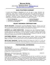 Sample Hotel General Manager Resume Management Template Entrancing