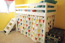 Diy Toddler Loft Bed Ana White Diy Jr Camp Loft Bed With Curtain Diy Projects