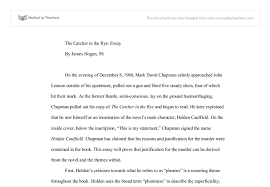 the catcher in the rye that the novel justifies the murder of  document image preview
