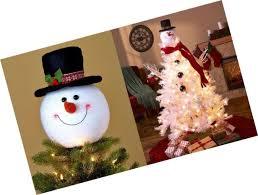 frosty snowman top hat christmas tree topper decor holiday winter wonderland