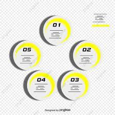 Yellow White Minimalist Design Infographic Vector Material