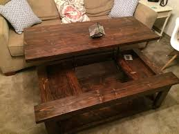 coffee table with lift awesome coffee table lift top plans