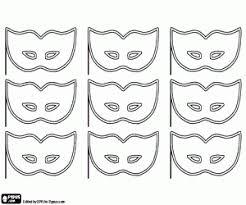 Kleurplaat Negen Maskers Voor Carnaval Kleurplaten