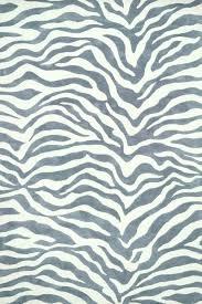 modern zebra print rug cream black
