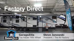 garagezilla 4620w 20 feet toy hauler fifth wheel weekend warrior