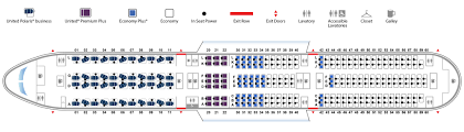 United Plane Seating Chart Boeing 787 10 Dreamliner