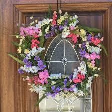 Spring wreaths for front Door Double Door Wreaths Floral