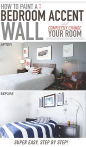 Paint For Bedrooms How To Paint A Bedroom Accent Wall And Completely Change Your Room