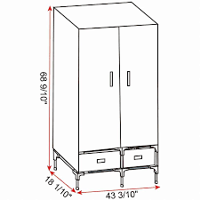 portable clothes closet wardrobe storage with 2 drawer cloth organizer with magnet doors steel shoe rack 6 shelves black