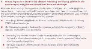 marketing obesity junk food advertising and kids parliament of  national prefentative health taskforce strategy